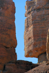 Kazakhstan, Charyn Canyon: Valley of the Castles - a bit of sky - photo by M.Torres