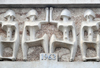 Nairobi, Kenya: frieze detail - 1963 and figures - art at Parliament House - architect Amyas Douglas Connell - photo by M.Torres
