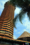 Nairobi, Kenya: corn-cob style tower - Kenyatta International Conference Center - KICC - City Square - architect Karl H. Nostvik - Harambee Avenue - central business district - COMESA grounds - photo by M.Torres