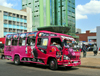 Nairobi, Kenya: colorful matatu share taxi near Afya Centre - Tom Mboya St - downtown traffic - photo by M.Torres