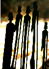 Africa - Kenya - silhouettes of wooden sculptures - Kenyan art - Masai art - photo by Francisca Rigaud