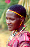 East Africa - Kenya - Mtwapa, Kilifi District, Coast province: Maasai / Masai warrior - tribesman - photo by F.Rigaud