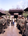 North Korea / DPRK - Pyongyang: the army at Mangyondae Native House - Kim Il Sung's childwood residence (photo by M.Torres)
