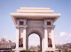 North Korea / DPRK - Pyongyang: Arch of Triumph - located at the foot of Moran hill, over Kaeson street - built from 10,500 pieces of granite - photo by M.Torres