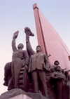 North Korea / DPRK - Pyongyang: Mansudae Grand Monument - the vanguard (photo by M.Torres)
