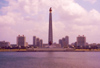 North Korea / DPRK - Pyongyang: Tower of the Juche Idea on the Taedong river (photo by M.Torres)