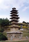 Democratic People's Republic of Korea - DPRK / Kaesong: museum - stylized pagoda (photo by M.Torres)