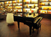 Incheon, South Korea: Incheon International Airport - ICN - piano corner at the chic Asiana airlines lounge - photo by M.Torres