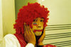 Asia - South Korea - Halloween - red wig - photo by S.Lapides
