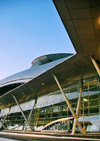 Incheon, South Korea: dawn at Incheon International Airport - ICN - Transportation Center - modern architecture - photo by M.Torres