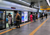 Incheon, South Korea: passengers board a train of Incheon Subway line 1 - Incheon Bus Terminal Station - photo by M.Torres