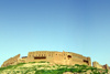 Erbil / Hewler / Arbil / Irbil, Kurdistan, Iraq: Erbil Citadel seen from the lower town - Qelay Hewlêr - UNESCO world heritage site - photo by M.Torres
