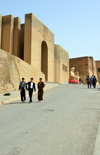 Erbil / Hewler, Kurdistan, Iraq: ramp to the main gate of the Erbil Citadel - Qelay Hewlêr - UNESCO world heritage site - photo by M.Torres