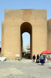 Erbil / Hewler, Kurdistan, Iraq: people at the main gate of the Erbil Citadel - Qelay Hewlêr - UNESCO world heritage site - photo by M.Torres