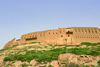 Erbil / Hewler, Kurdistan, Iraq: Erbil Citadel - buildings on the edge of the cliff that confines the Citadel's plateau - Qelay Hewlêr - UNESCO world heritage site - photo by M.Torres