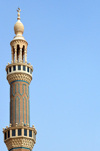 Erbil / Hewler / Arbil / Irbil, Kurdistan, Iraq: 65m-tall minaret at Jalil Khayat mosque, the city's largest mosque - photo by M.Torres