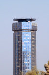 Kuwait city: Sharq Tower - heliport on the top - skyscraper - helipad on top - photo by M.Torres