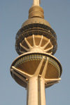 Kuwait city: Liberation Tower - detail - TV tower - photo by M.Torres