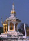 Laos: statues and temple - memorial of the communist revolution - photo by E.Petitalot