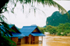 Laos - Vang Vieng - the effects of the monsoon - flooded houses - photo by K.Strobel