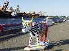 Latvia - Ventspils: exotic bovine by the grain terminal / Govis -  - cow parade created by Swiss-born artist Pascal Knapp (photo by A.Dnieprowsky)