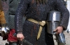 Ventspils: hand on sword, helm and coat of mail - medieval festival (photo by A.Dnieprowsky)