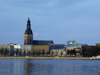 Latvia / Latvija - Riga: the Cathedral and the Daugava river / Western Dvina (photo by Alex Dnieprowsky)