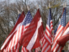 Latvia / Latvija - Riga: Latvian and American flags (photo by Alex Dnieprowsky)