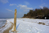 Latvia - Ventspils: frozen beach (photo by A.Dnieprowsky)