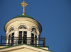 Latvia - Ventspils: Lutheran church - detail of the top (photo by A.Dnieprowsky)