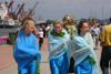 Latvia - Ventspils: Neptune's wives - sea festival - 3 latvian girls (photo by A.Dnieprowsky)