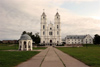 Latvia / Latvija - Aglona Catholic Basilica: arriving (photo by Alex Dnieprowsky)