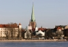 Latvia / Latvija / Lettland - Riga: Vecriga - Gothic spire of St.Jacob's Church (photo by Alex Dnieprowsky)