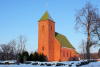 Latvia - Edole: red church  (Kuldigas Rajons - Kurzeme / Courland) (photo by A.Dnieprowsky)