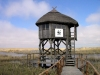 Latvia - Pape: watchtower on the lake - bird watching spot - WWF panda sign - Papes ezers (Liepajas Rajons - Kurzeme) - photo by A.Dnieprowsky