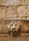 Lebanon / Liban - Baalbek in the Bekaa valley: lion head - photo by J.Wreford