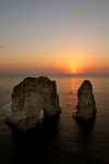 Lebanon / Liban - Beirut: Mediterranean sunset II (photo by J.Wreford)