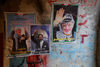 Lebanon, Sidon: political posters of Sadam Hussein and Yasser Arafat - photo by J.Pemberton