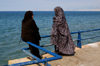 Lebanon, Beirut: Shia Muslim women on the corniche - dressed from from head to toe - photo by J.Wreford