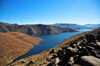 Mohale Dam, Lesotho: impounds the waters of the Senqunyane River - reservoir in the Central Highlands - photo by M.Torres