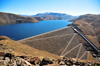 Mohale Dam, Lesotho: embankment rock-fill dam - the reservoir has a surface area of 22 square kilometers - photo by M.Torres