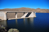Mohale Dam, Lesotho: ogee crest spillway built on the left abutment of the dam, seen from the reservoir side - photo by M.Torres