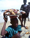 Liberia - Grand Basa County: Buchanan - the shell fish catch of the day - photo by M.Sturges