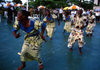 Grand Bassa County, Liberia, West Africa: Buchanan - dancing group - Bassa tribal dancers - african dances - photo by M.Sturges