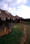 Grand Bassa County, Liberia, West Africa: village dwellings - photo by M.Sturges