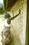 Grand Bassa County:  decorating the house (photo by M.Sturges)