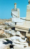 Libya - Cyrene: Naval Memorial - in the form of a ship riding on a dolphin (photo by G.Frysinger)