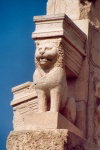 Libya - Sabratha: Puno-Hellenistic Mausoleum of Bes - detail of a lion (photo by M.Torres)