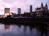 Lithuania - Vilnius: dusk by the river Neris - photo by A.Dnieprowsky