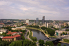 Lithuania - Vilnius / VNO : the Vilnia before the river Neris from Gediminas hill - nuo Gedimino kalno - Mindaugas Bridge - photo by A.Dnieprowsky